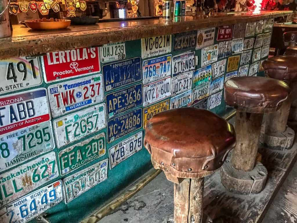 Bar Stool in Chicken Alaska Saloon