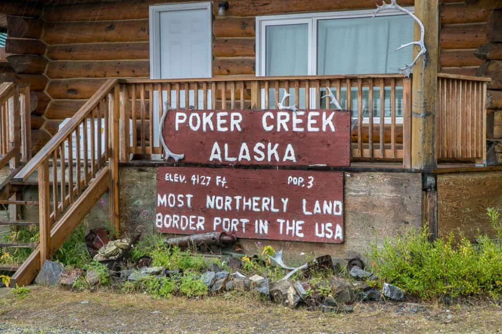 Poker Creek Alaska border crossing