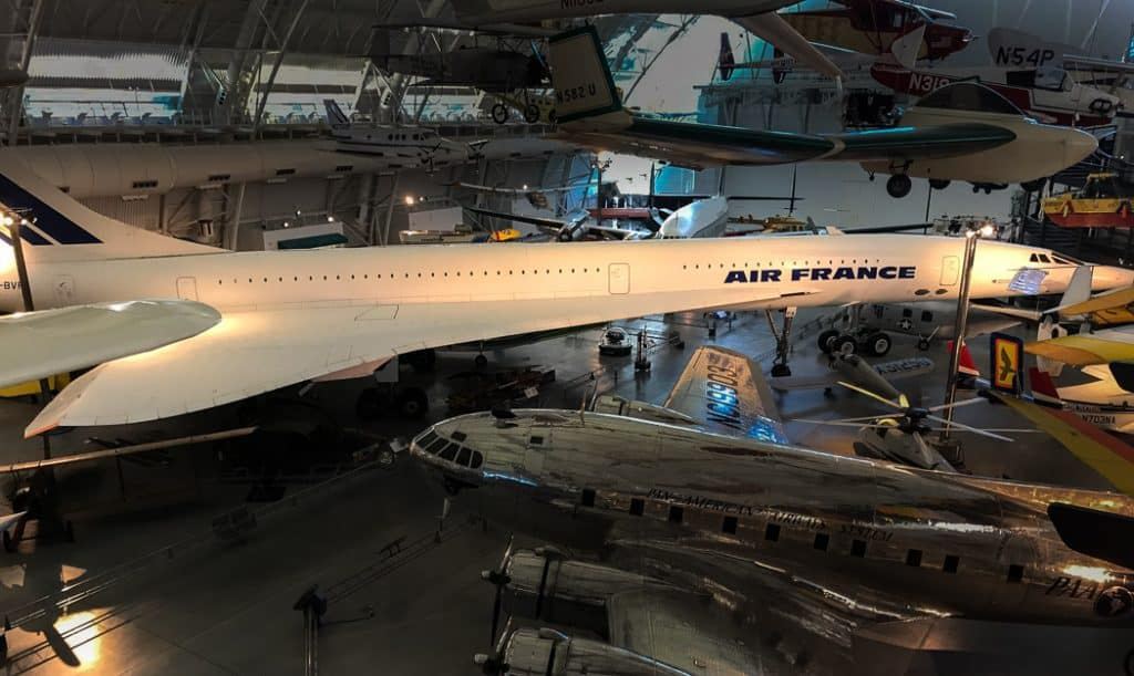Air France Concorde Air And Space Museum Virginia