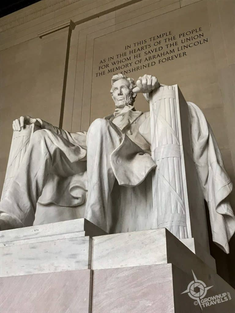 Statue of Lincoln at Memorial Washington DC