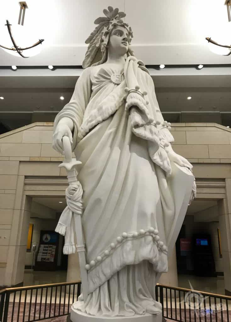 Statue of Freedom Exhibition Hall Capitol Bldg Washington
