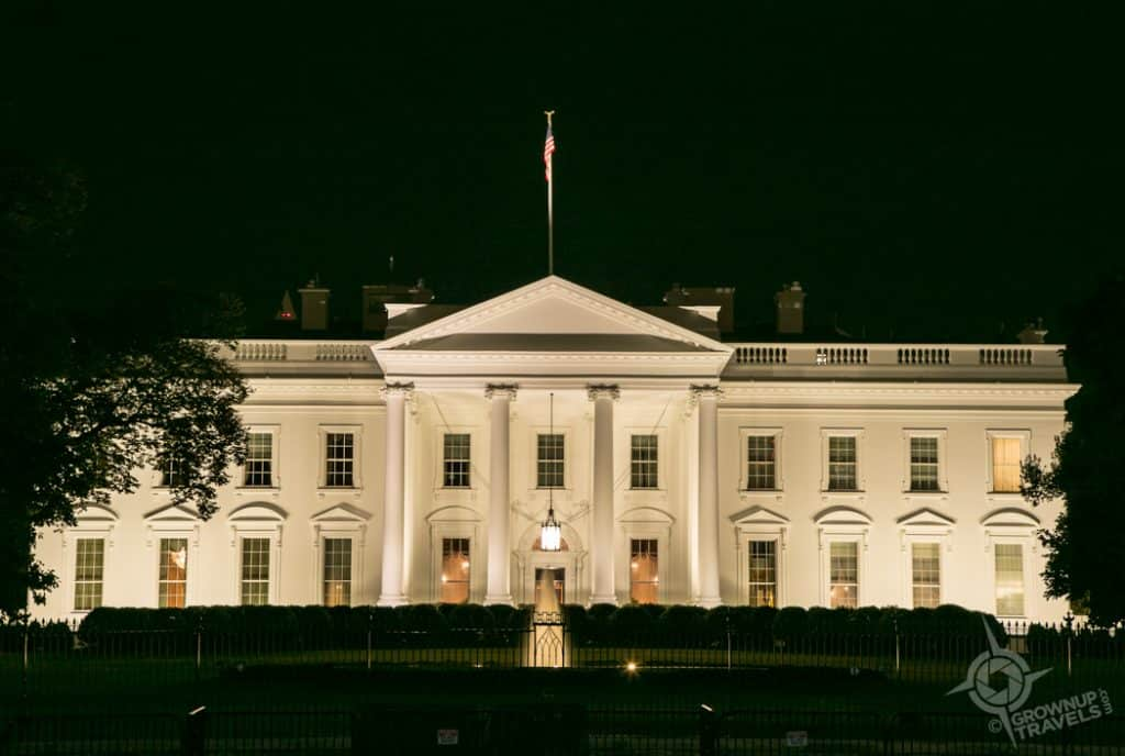 White House North side at night Washington