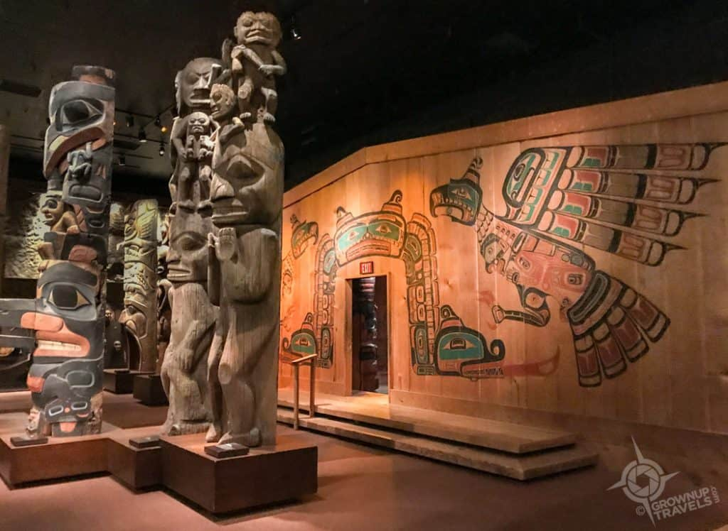 Totem Hall Ceremonial House Royal BC Museum Victoria