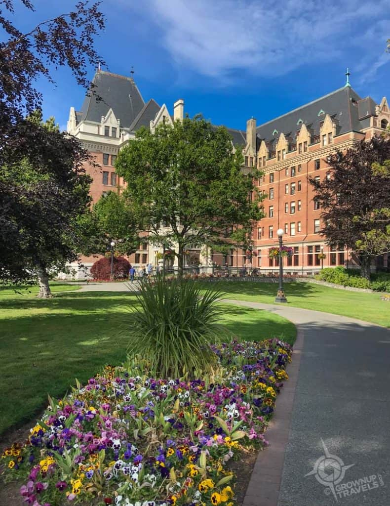 South side of Empress Hotel with gardens