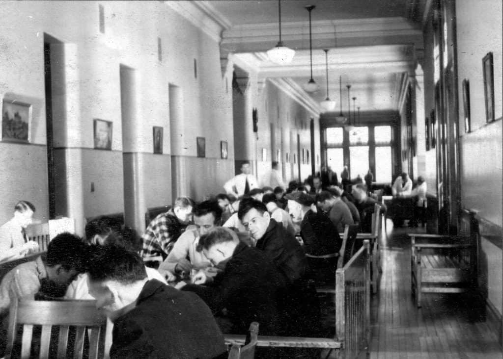 Bingo in the hallways of the Buffalo State Asylum