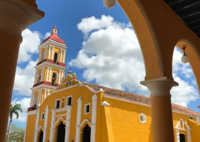 Remedios Church through arch Cuba