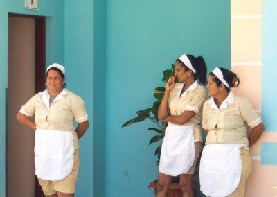 Waitresses at Plaza La Estrella Cuba