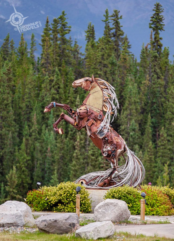 Whitehorse metal sculpture Yukon
