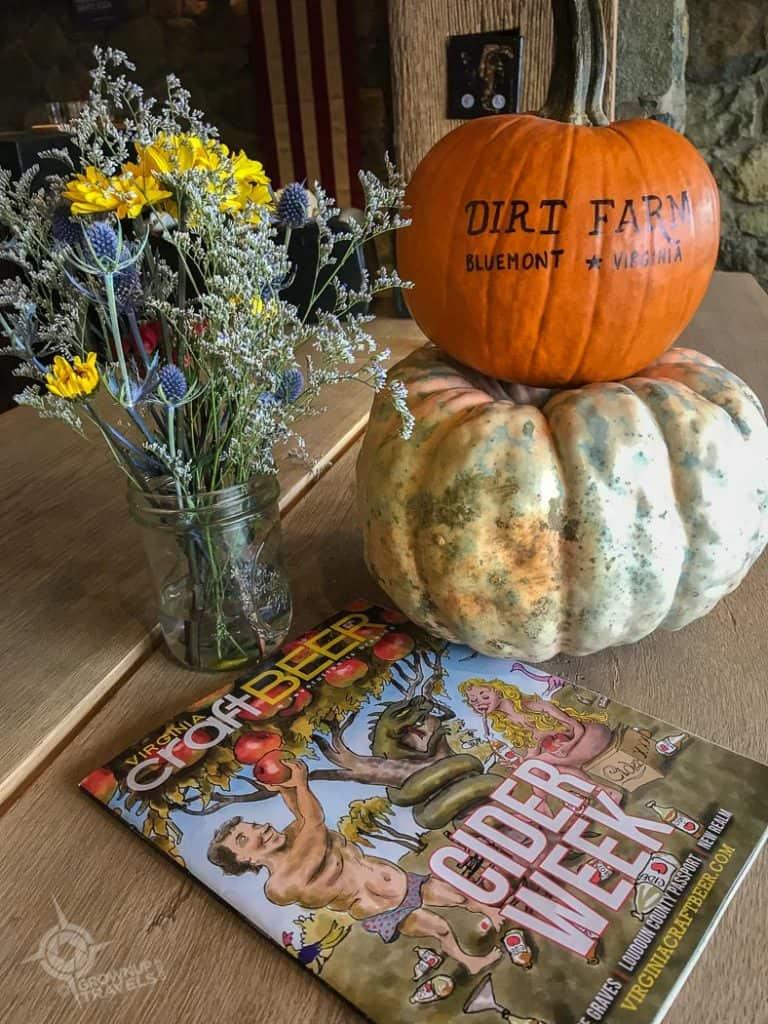 Loudon County Dirt Farm Brewing pumpkins