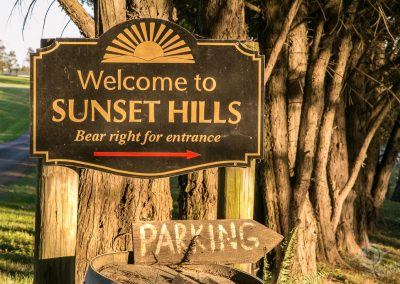 Loudoun County Sunset Hills Winery sign