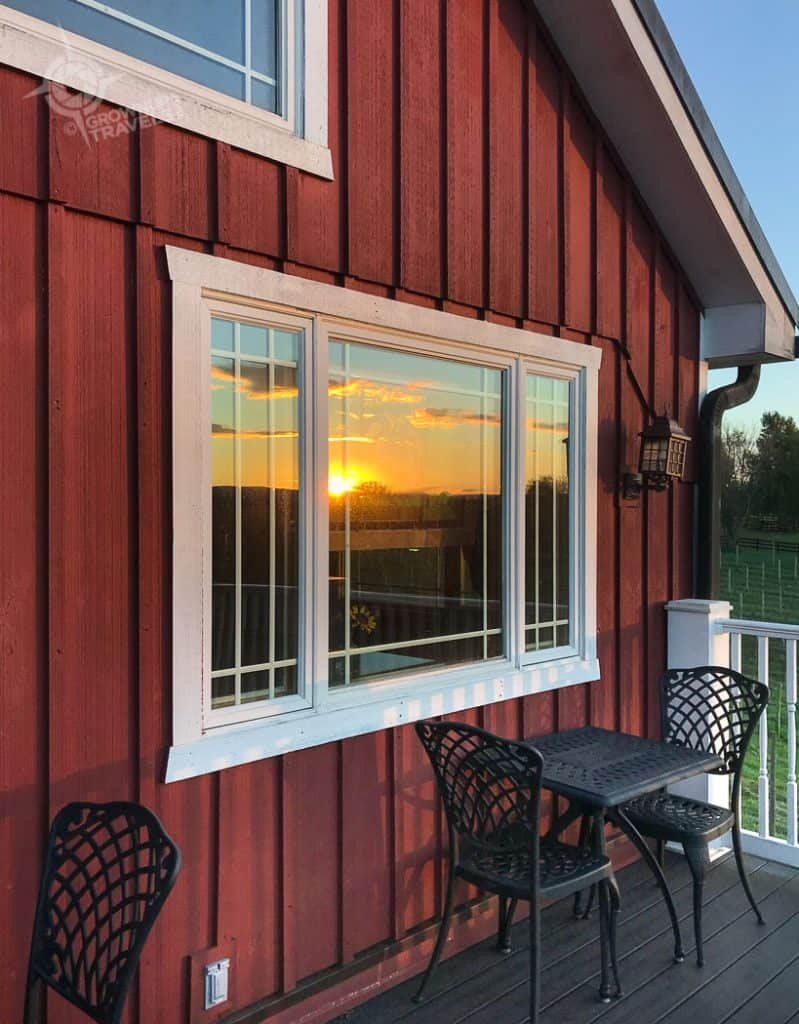 Loudon County Sunset Hills winery deck