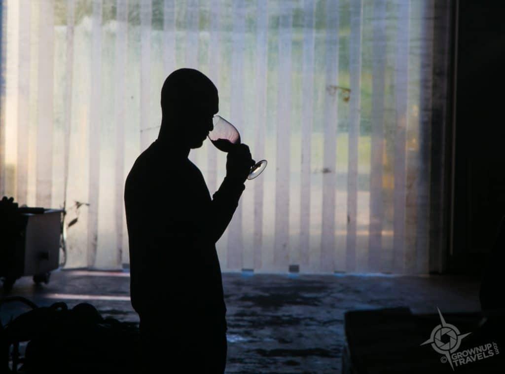 Silhouette winemaker Breaux vineyards