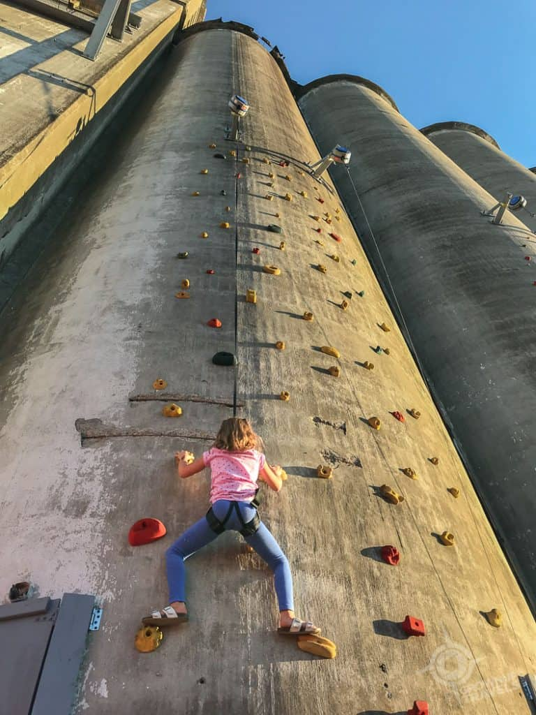 Rockclimbing at RiverWorks Buffalo