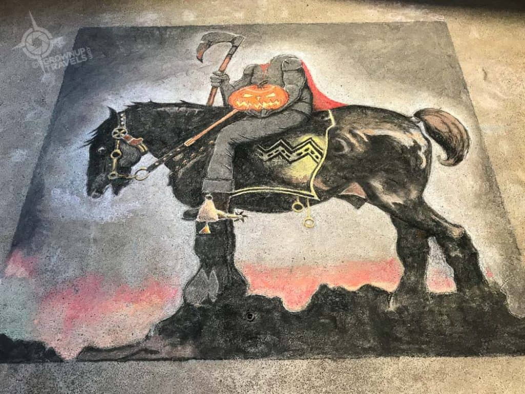 Sleepy Hollow artwork in RiverWorks silos Buffalo