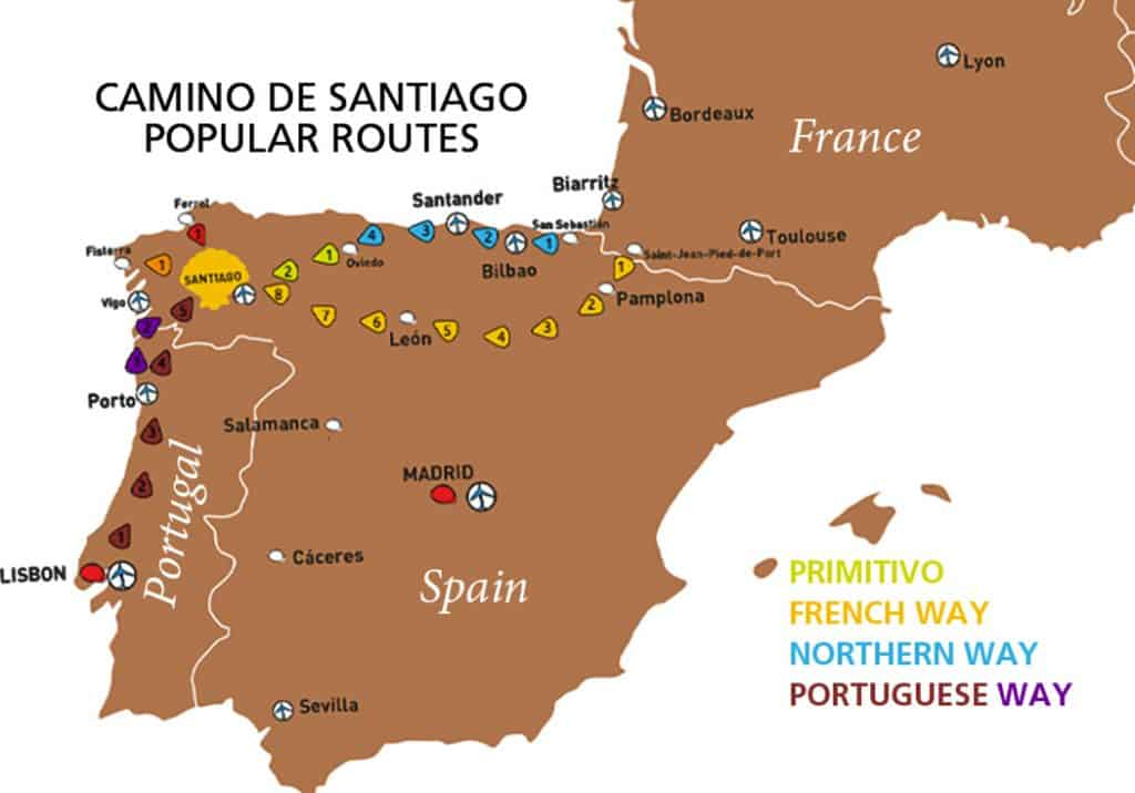 CAMINO ROUTES_MAP