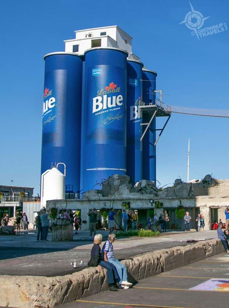 Labatt 6pack silos at RiverWorks
