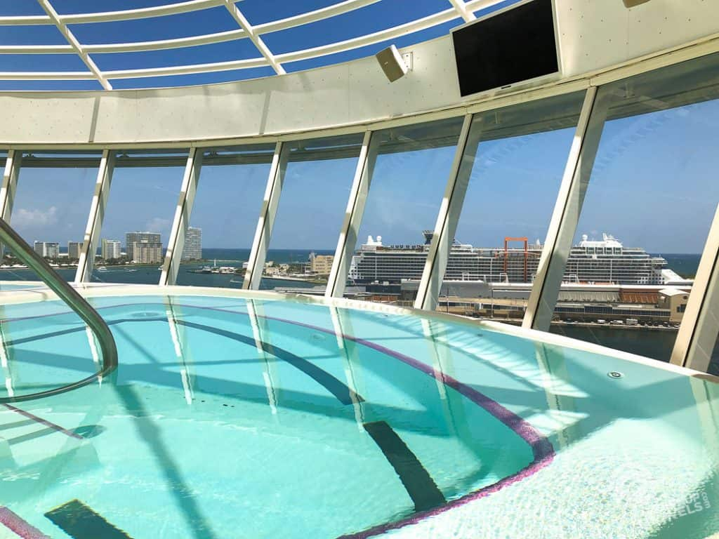 Cantilevered hot tub Harmony of the Seas