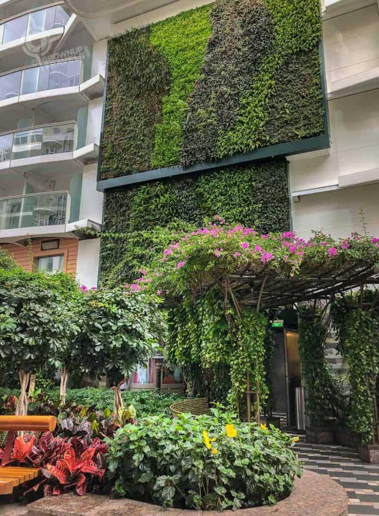 Harmony of the Seas living wall in Central Park