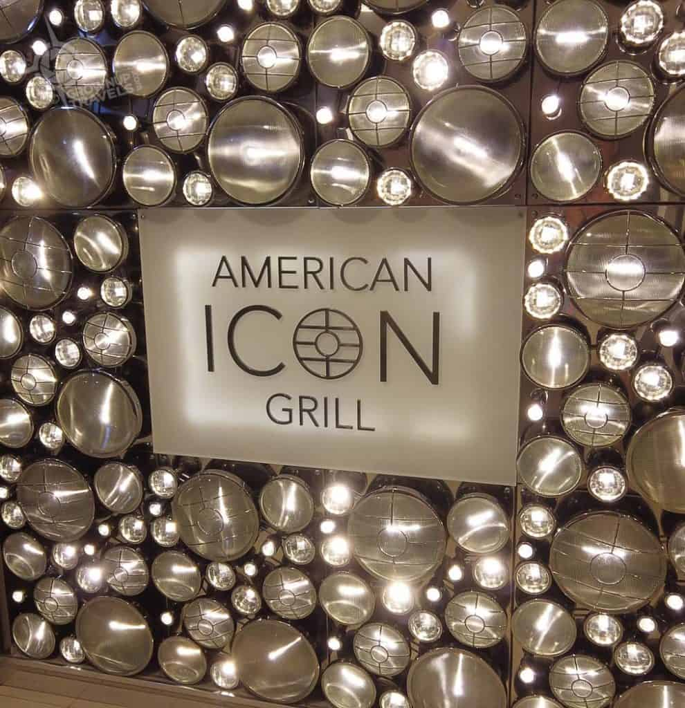 American Icon grill sign Harmony of the Seas