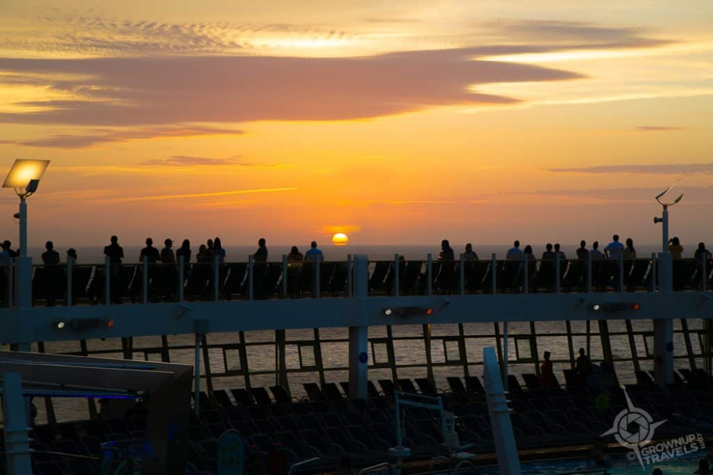 Sunset view from Harmony of the Seas deck