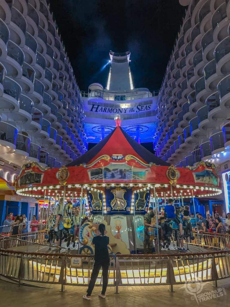 Harmony of the Seas Carousel at night