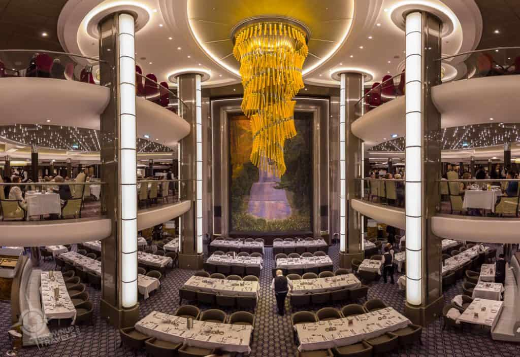Harmony of the Seas 3 story dining room