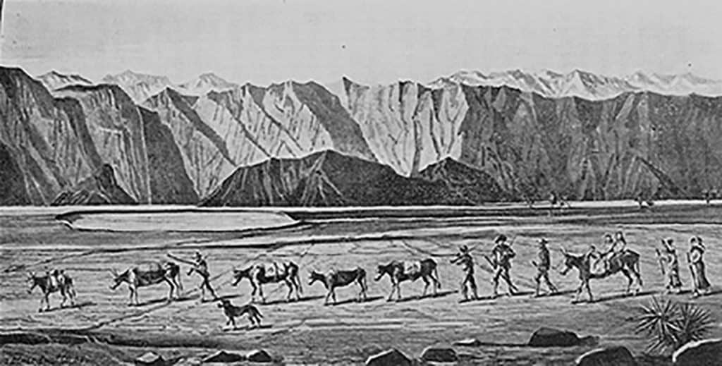 Lost 49ers Death Valley historical illustration