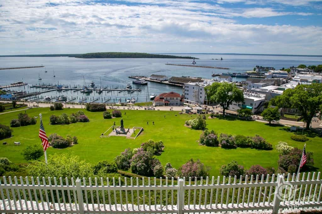View from the Tea Room Fort Mackinac