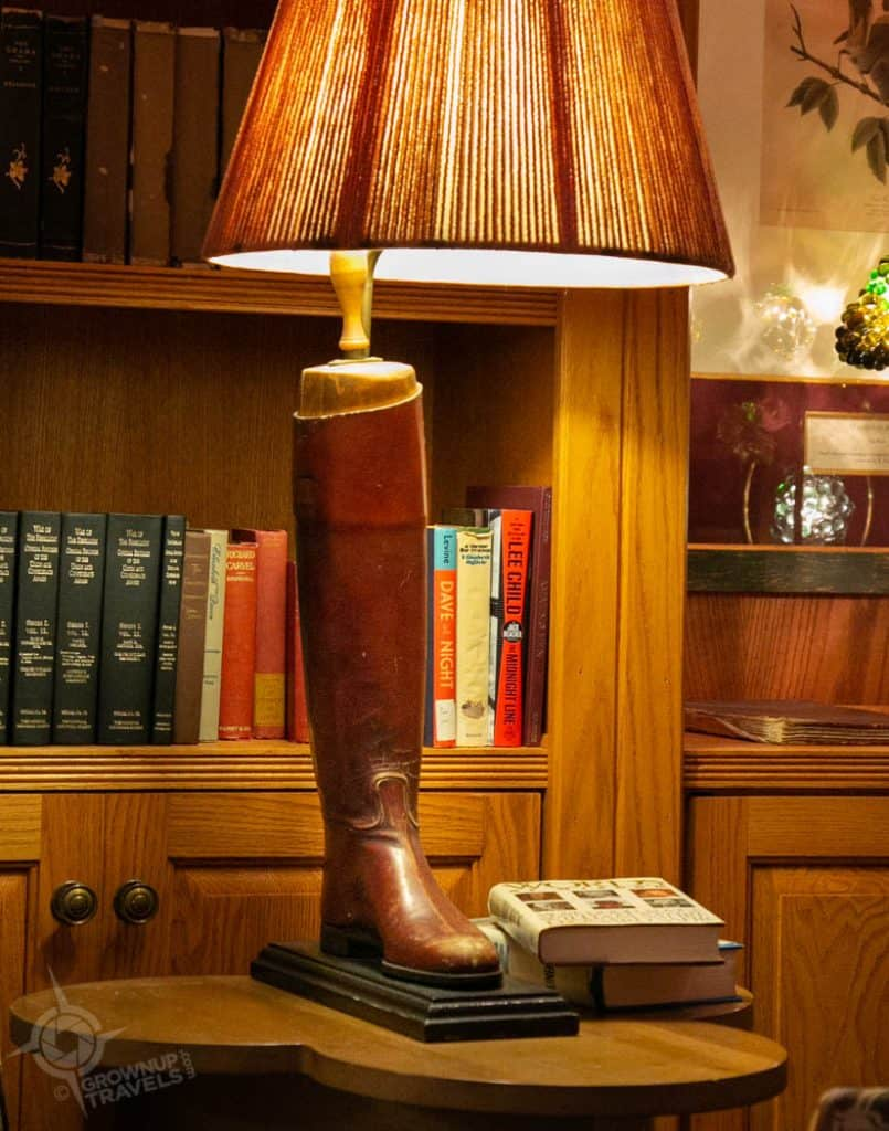 Riding Boot Lamp Grand Hotel