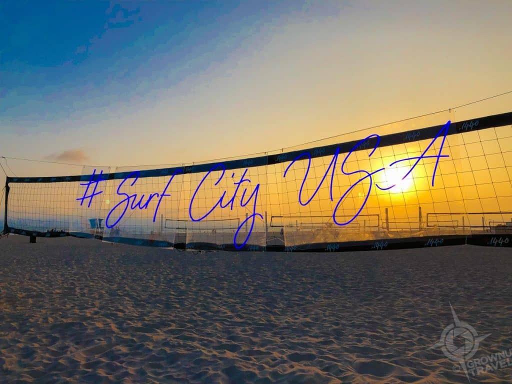Surf City USA beach volleyball net