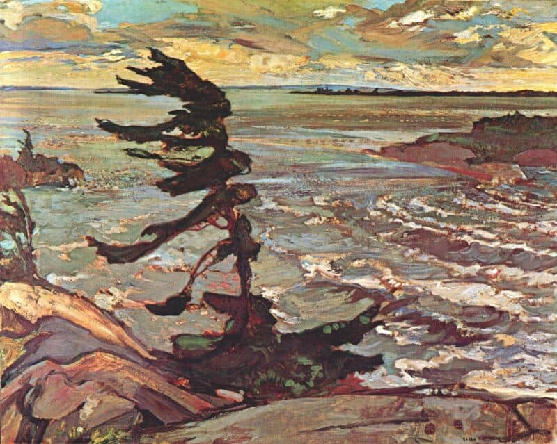 Frederick-H-Varley-Stormy-Weather-Georgian-Bay-1920