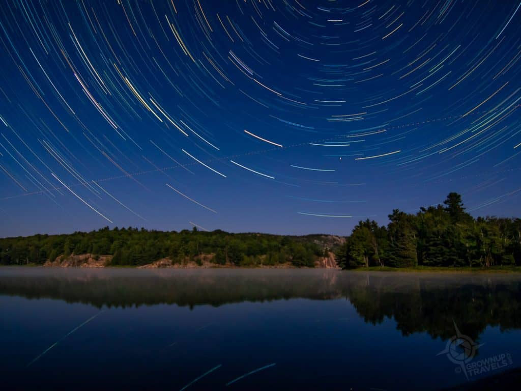Star Trails George Lake Killarney Ontario