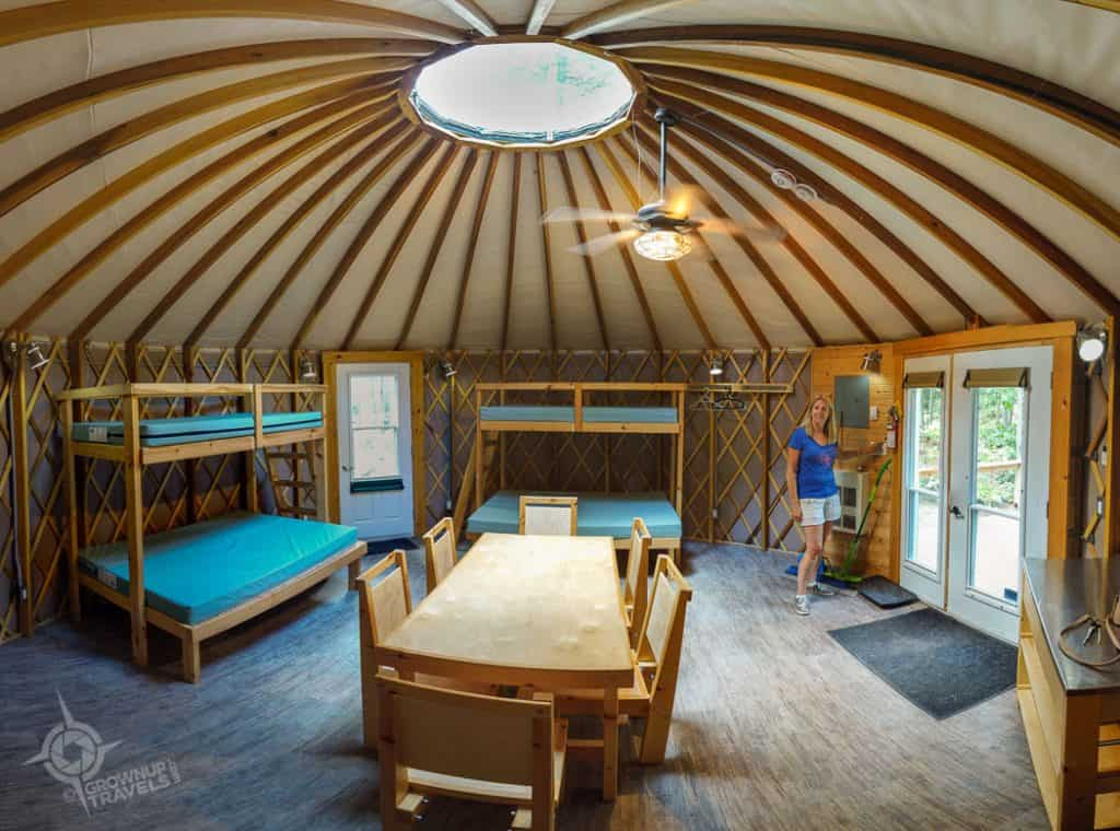 Killarney Yurt #1 Interior