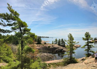 Chikanishing Trail overlooking Georgian Bay Killarney