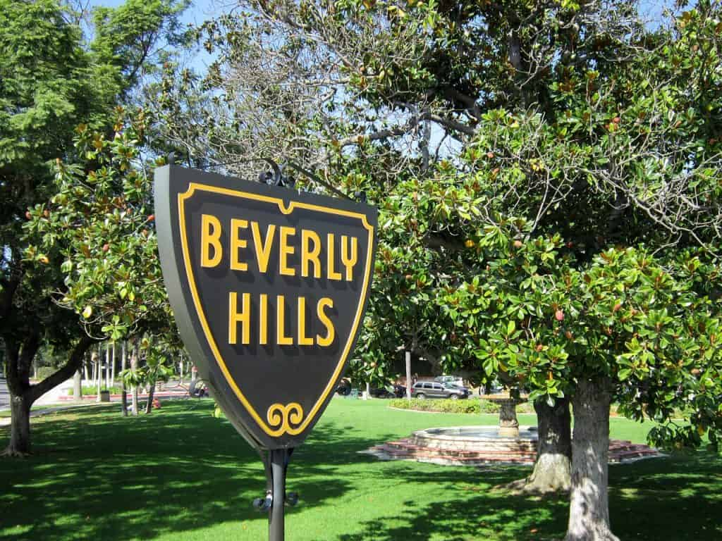 Beverly HIlls sign Public Domain
