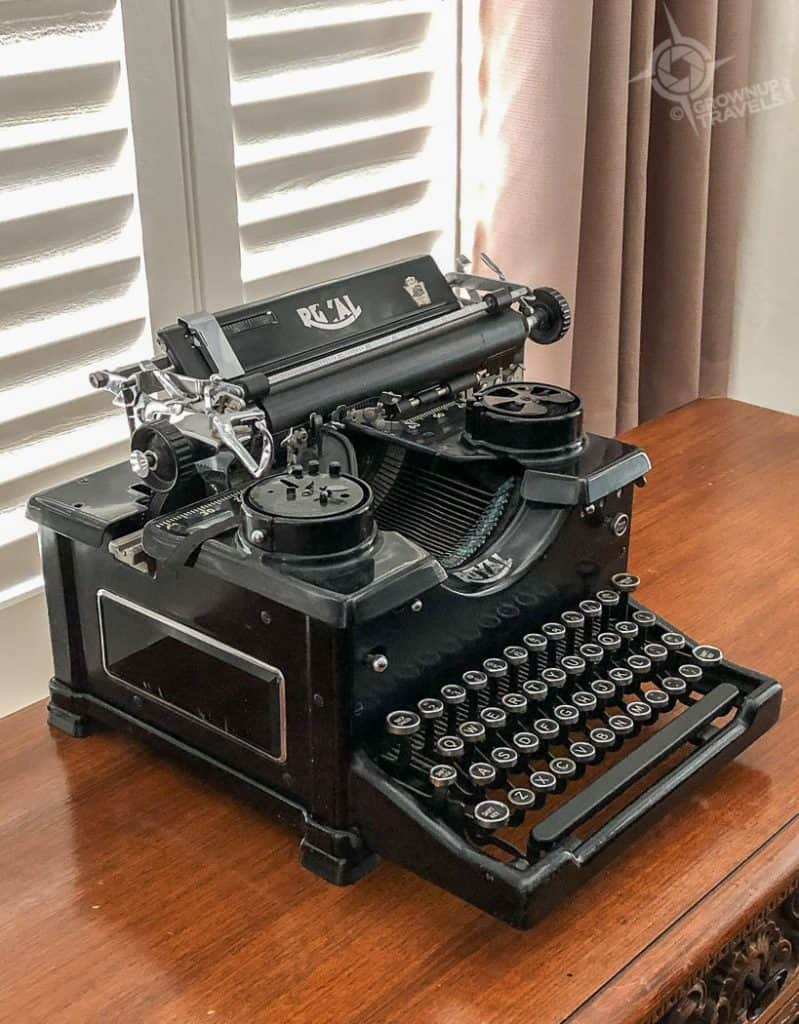 Frank Capra typewriter La Quinta Resort Palm Springs
