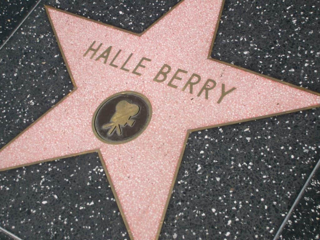 Halle Berry Walk of Fame star Hollywood