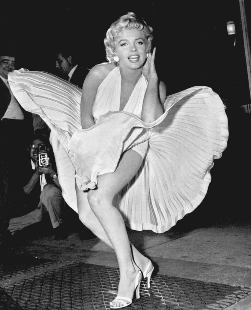 Marilyn Monroe Skirt flying public domain