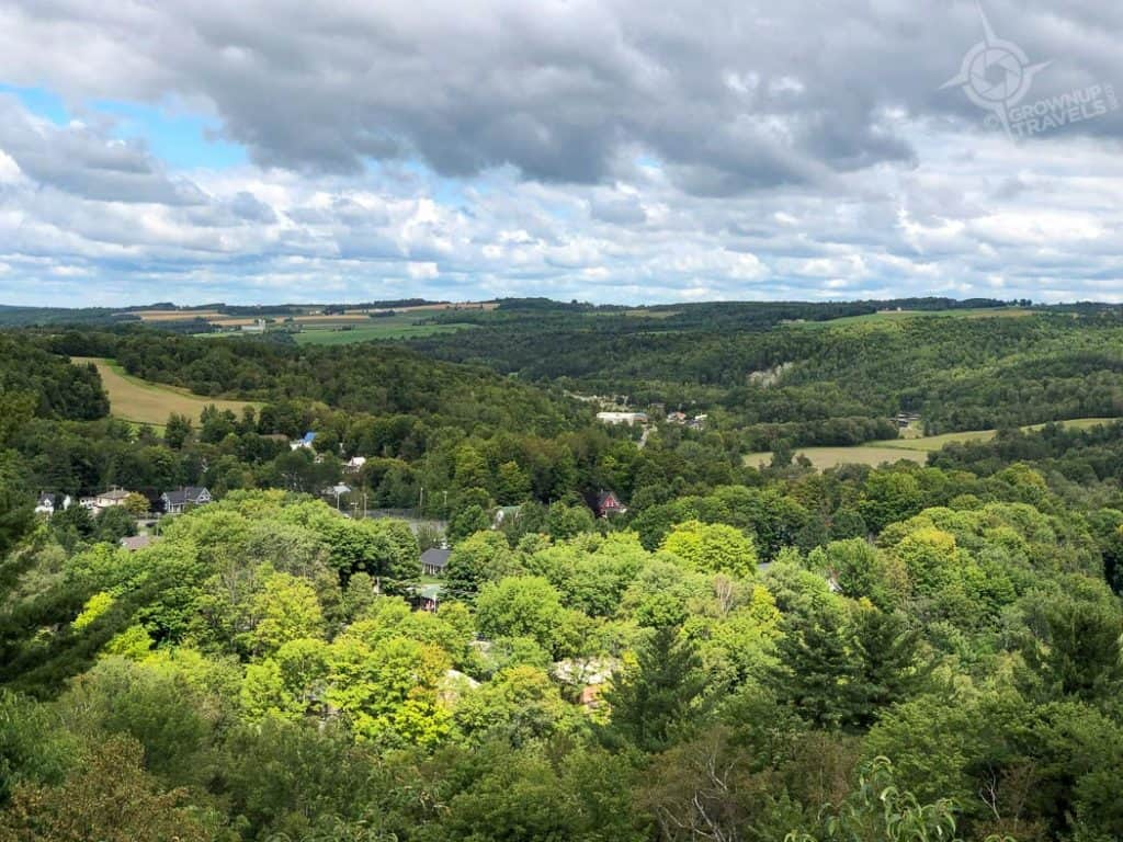 View from Couillard Tower Coaticook Gorge