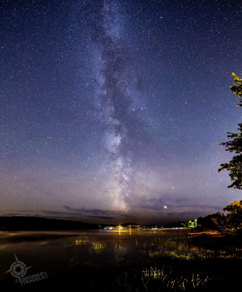 Milky Way over Long Lake Sudbury 2019