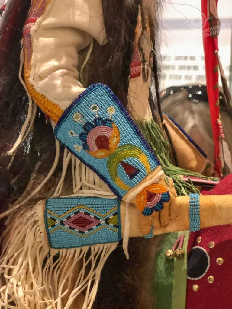 Preston and Skylar beadwork detail Heard Museum Phoenix