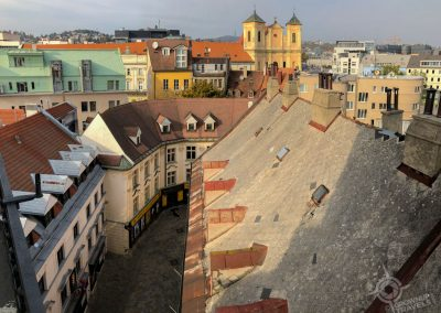 Bratislava Slovakia view from St. Martins Gate tower