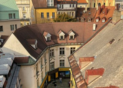 Bratislava Slovakia view of town from St. Martins gate vert