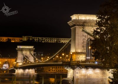 Budapest Chain Bridge Night horiz