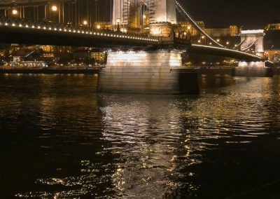 Budapest Chain Bridge and river vert