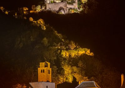 Durnstein Austria Castle and town at night