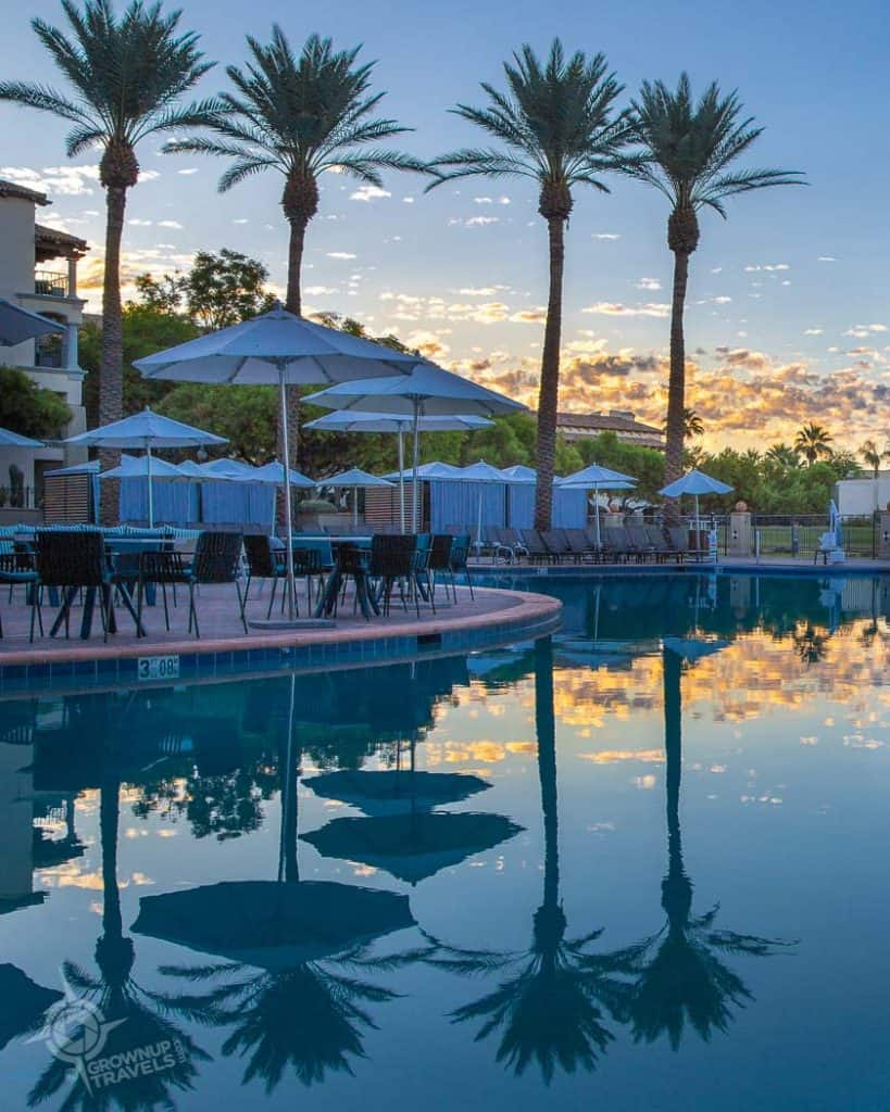 Fairmont Princess Scottsdale Princess Pool at dawn