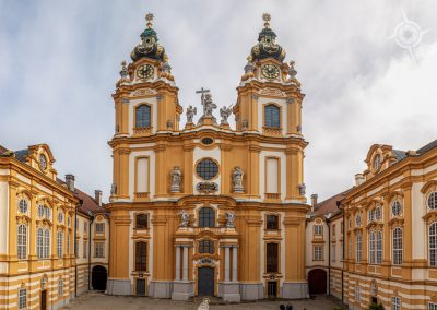 Melk Austria Monastery and courtyard