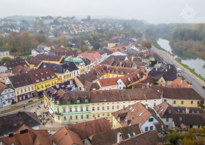 Melk Austria view of town from Monastery