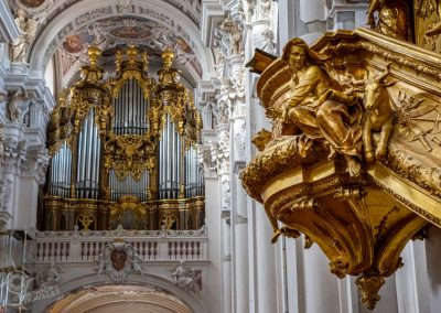 Passau Germany St. Stephans Pulpit and organ